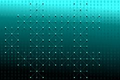 Digital binary data with white dots and lines network on blue and white gradient background. Vector illustration, EPS 10. Modern, science, technology, virus Royalty Free Stock Photo