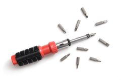 Modern screwdriver Stock Image