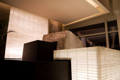 Modern Sculpture. Of boxes of stone and water Royalty Free Stock Images