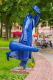 Modern sculpture in Amsterdam, The Netherlands Royalty Free Stock Photography