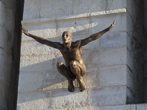 Modern sculpture in Antibes, France Royalty Free Stock Images