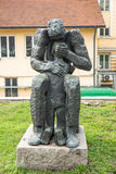 Modern sculpture in the center of Sofia in Bulgaria Stock Image