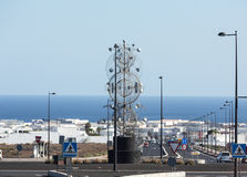The modern  sculpture designed by Cesar Manrique, Lanzarote Royalty Free Stock Photo