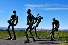 Modern sculpture stock image