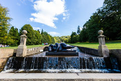 Modern Sculpture at the grounds of the Chatsworth House in Derbyshire. Stock Image
