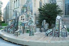 Modern sculpture made of windows Stock Photo