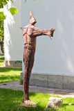 Modern sculpture near The University of Art and Design, Cluj-Nap Royalty Free Stock Image