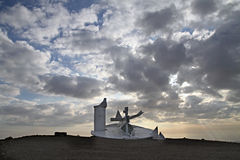 Modern sculpture in the Negev desert, Israel Royalty Free Stock Photos