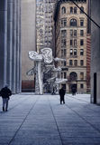 Modern sculpture in new york city Stock Image