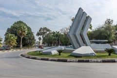 Modern sculpture, Nicosia, North Cyprus Royalty Free Stock Image