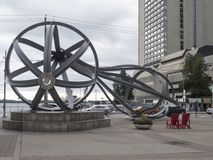 Modern sculpture on Queen`s Quay, Toronto, Canada Royalty Free Stock Image