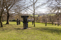 Modern sculpture in the YSP. Royalty Free Stock Images