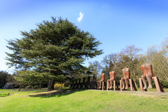 Modern sculpture in the YSP. Royalty Free Stock Photography
