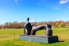 Modern sculpture in the YSP. Royalty Free Stock Image