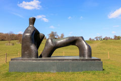 Modern sculpture in the YSP. Stock Image