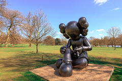 Modern sculpture in the YSP. Stock Photography
