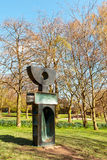 Modern sculpture in the YSP. Royalty Free Stock Photo