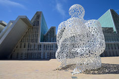 Modern sculpture in Zaragoza Stock Photos