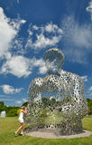 Modern sculptures in Kyiv. Royalty Free Stock Photography