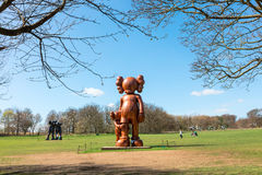 Modern sculptures in the YSP. Stock Photos