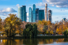 Modern scyscrapers of Moscow city business center Royalty Free Stock Photography