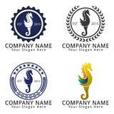 Modern Seahorse Concept Logo Stock Image