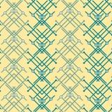 Modern seamless geometric pattern in yellow, blue, white colors. Modern seamless abstract geometric pattern in yellow, blue, white colors Royalty Free Stock Image