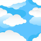 Modern seamless cloud pattern Stock Images