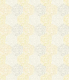 Modern Seamless Dotted Pattern. Geometric repeating ornament with hexagonal dotted elements. Seamless abstract modern golden and silver pattern Royalty Free Stock Photography
