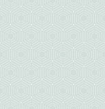 Modern Seamless Dotted Pattern. Geometric repeating ornament with hexagonal dotted elements. Seamless abstract modern pattern. Light blue and white pattern Royalty Free Stock Photo