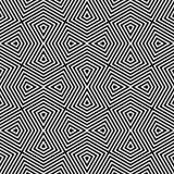 Modern seamless geometric texture. Vector seamless pattern. Modern geometric texture. Opt Art Royalty Free Stock Photos