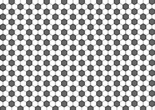 Modern seamless geometry pattern hexagon, black and white honeycomb abstract geometric background Stock Photo