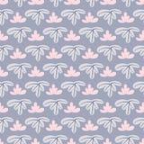 Modern seamless leaf pattern with blue background vector illustration