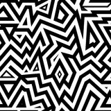 Modern Seamless Mixed Lines Background for Textile Design. Black and White Striped Vector Pattern vector illustration
