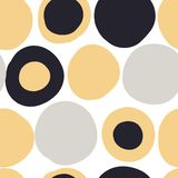 Modern seamless pattern with abstract colorful shapes stock illustration