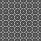 Seamless pattern with black and white circles stock illustration