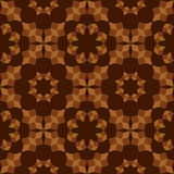 Modern seamless pattern of brown shades geometrical objects on dark brown background Stock Photography