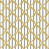 Modern seamless pattern with brush stripes plaid and cross. Black , gold metallic color on white background. Golden. Glitter texture. Ink geometric elements royalty free illustration