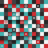 Modern seamless pattern with colorful squares. EPS10. Royalty Free Stock Image