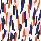 Abstract colorful stripes seamless pattern Stock Photos