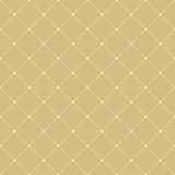 Modern Seamless Pattern. Geometric repeating golden ornament with white diagonal dotted lines. Seamless abstract modern pattern Stock Photos
