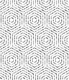 Modern Seamless Pattern. Geometric repeating ornament with diagonal black dotted hexagons. Seamless abstract modern pattern Royalty Free Stock Image