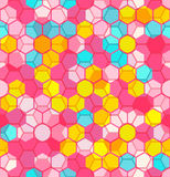 Modern Seamless pattern of Hexagons multicolor abstract geometric background. Royalty Free Stock Image