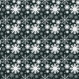 Modern seamless pattern with snowflakes vector illustration