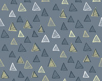 Modern seamless pattern with triangles. Abstract background. Modern seamless pattern with triangles. Vector illustration Stock Photos