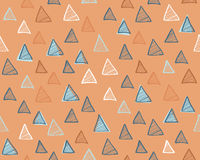Modern seamless pattern with triangles. Abstract background. Modern seamless pattern with triangles. Vector illustration Royalty Free Stock Photo
