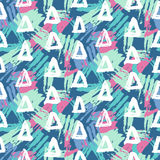 Modern Seamless Pattern With Brush Painted Geometric Shapes Stock Images