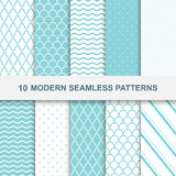 10 modern seamless patterns Royalty Free Stock Photos