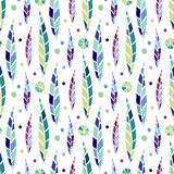 Modern seamless stylized leaf pattern. Bright background for fashion textile and wrapping design Stock Images
