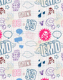 Modern seamless texture. Cool emo style. Vector EPS 10 illustration vector illustration